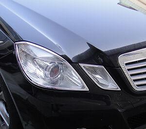 MERCEDES BENZ E CLASS 4 DOOR SALOON W212 NEW CHROME HEADLIGHT TRIMS 2009 ONWARDS