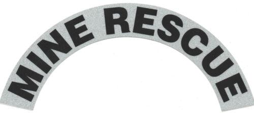 A PAIR MINE RESCUE REFLECTIVE FIRE HELMET CRESCENT DECALS