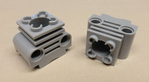 x2 NEW Lego Technic Engine Cylinder without Side Slots LIGHT BLUISH GRAY