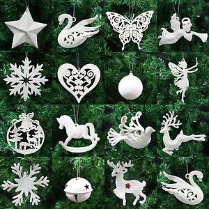 Ivory-White-Christmas-Tree-Pendant-Baubles-Fairy-Snowflake-Santa-Decorations