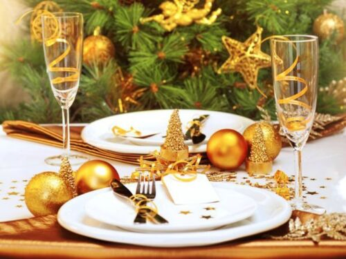 a gold theme is a lovely way to decorate your christmas table you can either focus completely on gold using such things as gold christmas ornaments or - Christmas Table Decorations