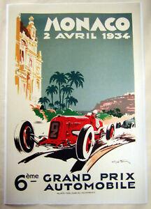 Large-Format-HiQ-Facsimile-1934-Monaco-Grand-Prix-Automobile-Racing-Poster-36x24