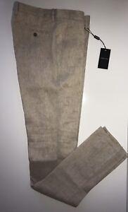 Nwt 1195 Giorgio Armani Mens Linen Dress Pants 36 Us 52 Euro