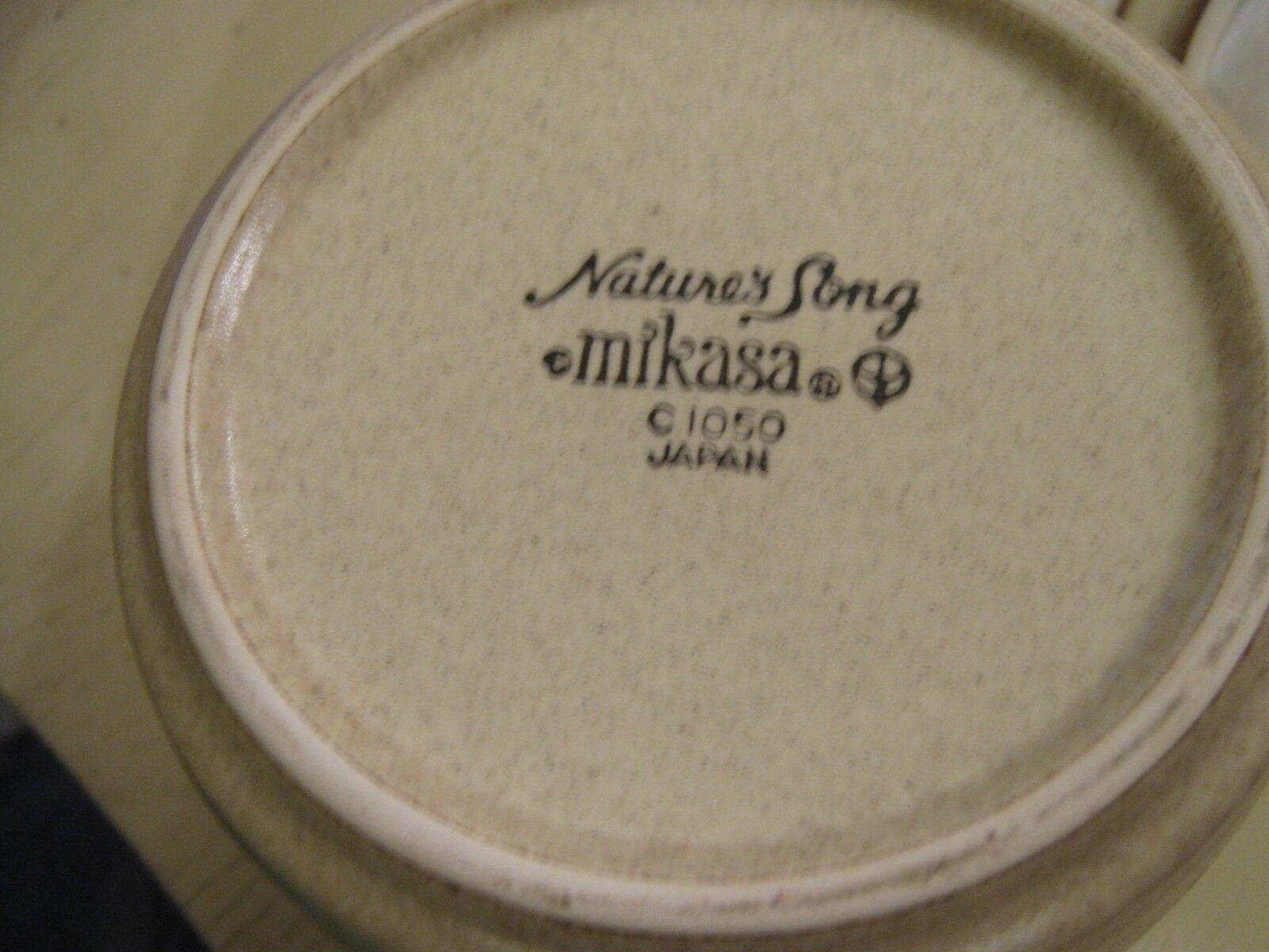 Mikasa , Natures Song , C 1050 , Creamer and Sugar/Lid