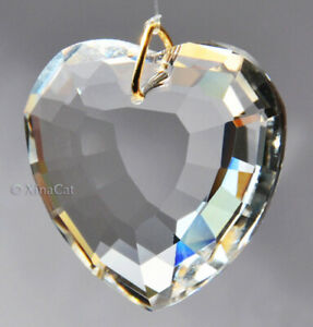 45mm-Heart-Crystal-Clear-Faceted-Pendant-Prism-SunCatcher-1-3-4-inch
