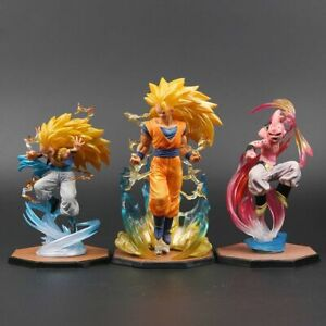 Dragon-Ball-Z-Goku-Gotenks-Super-Saiyan-3-Majin-Buu-Action-Figures-Collection