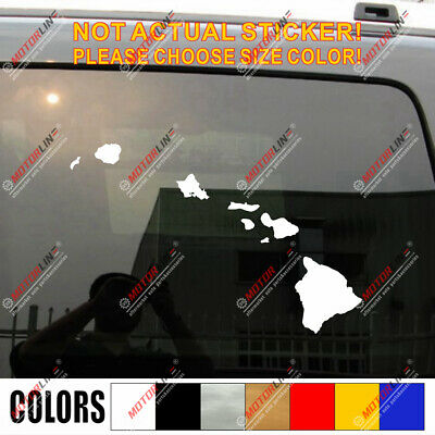 Sticker Hawaii State Outline Decal