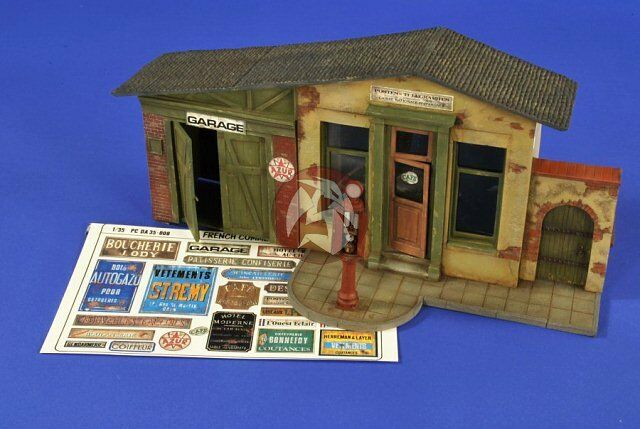 Verlinden 1 35 French French French Garage   Road Stop Front Section WWII [Resin Diorama] 2654 d208c4