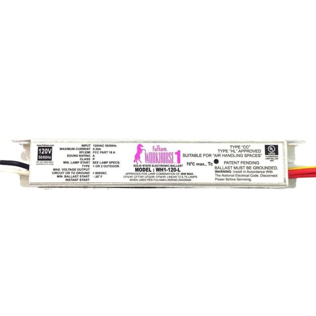 buy fulham workhorse 1 solid state electronic ballast wh1 120 lfulham workhorse 1 versatile solid state electronic ballast wh1 120 l 15906
