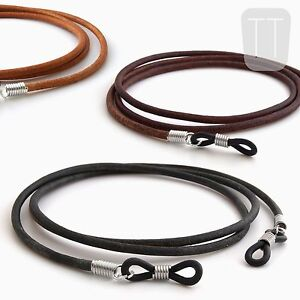 100-REAL-LEATHER-spectacles-reading-GLASSES-CORD-chain-neck-strap-lanyard