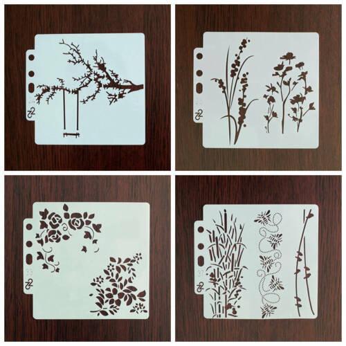 4 Pcs//Set Layering Stencils Sticker Painting for Scrapbooking//Card Making Xmas