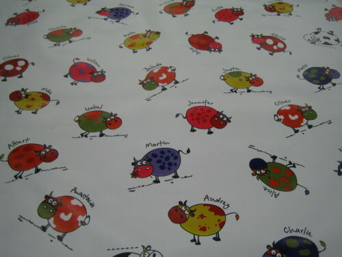 CHILDRENS COW PRINT PVC PLASTIC VINYL WIPECLEAN TABLE CLOTH CAFE BAR  KITCHEN
