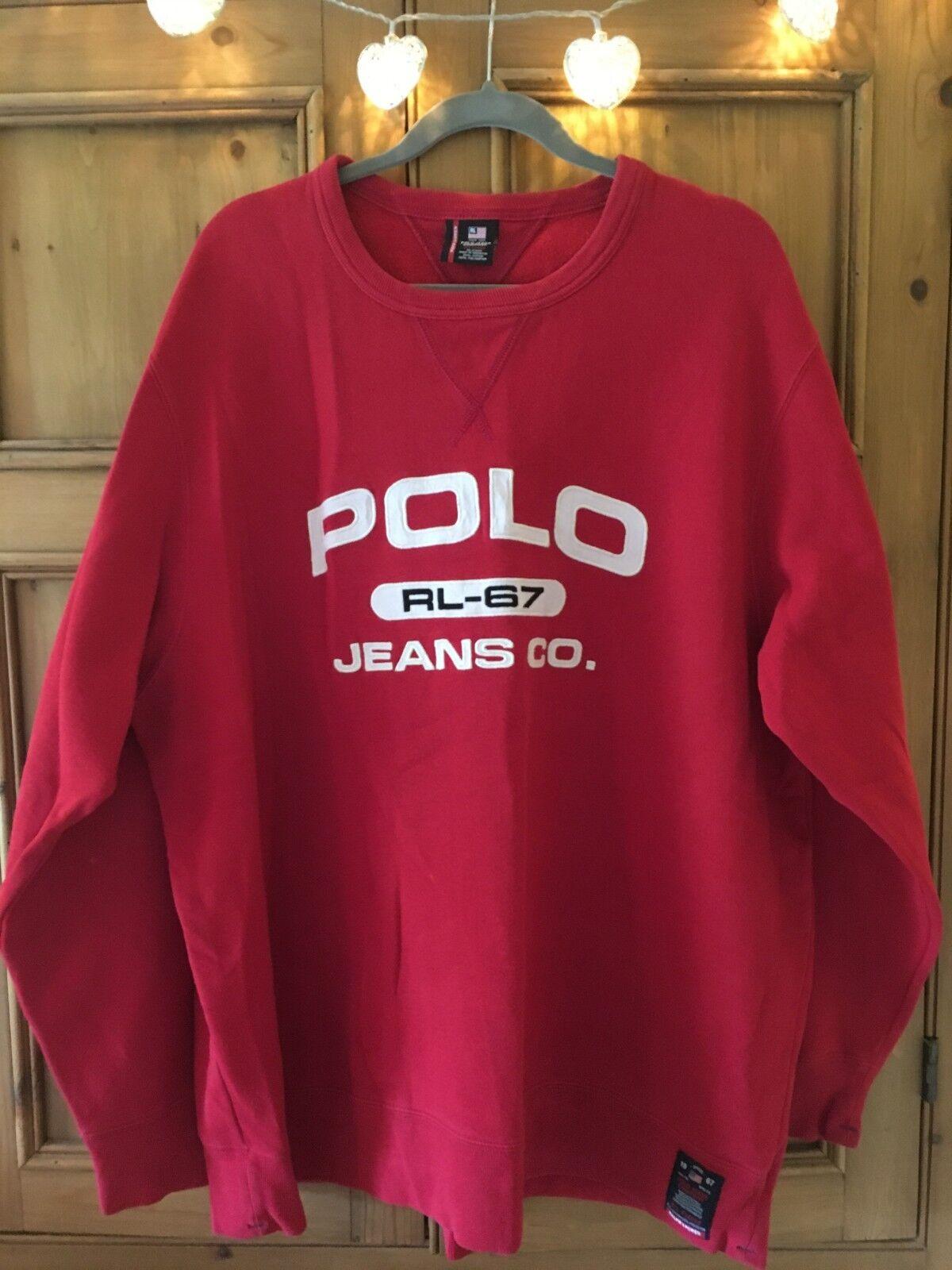 Vintage Ralph Lauren POLO Jeans Oversized Sweatshirt XXL