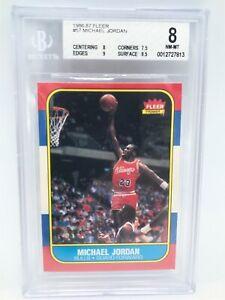 🔥🔥 1986 Fleer Basketball Michael Jordan ROOKIE RC #57 BVG 8 NM-MT 🔥🔥