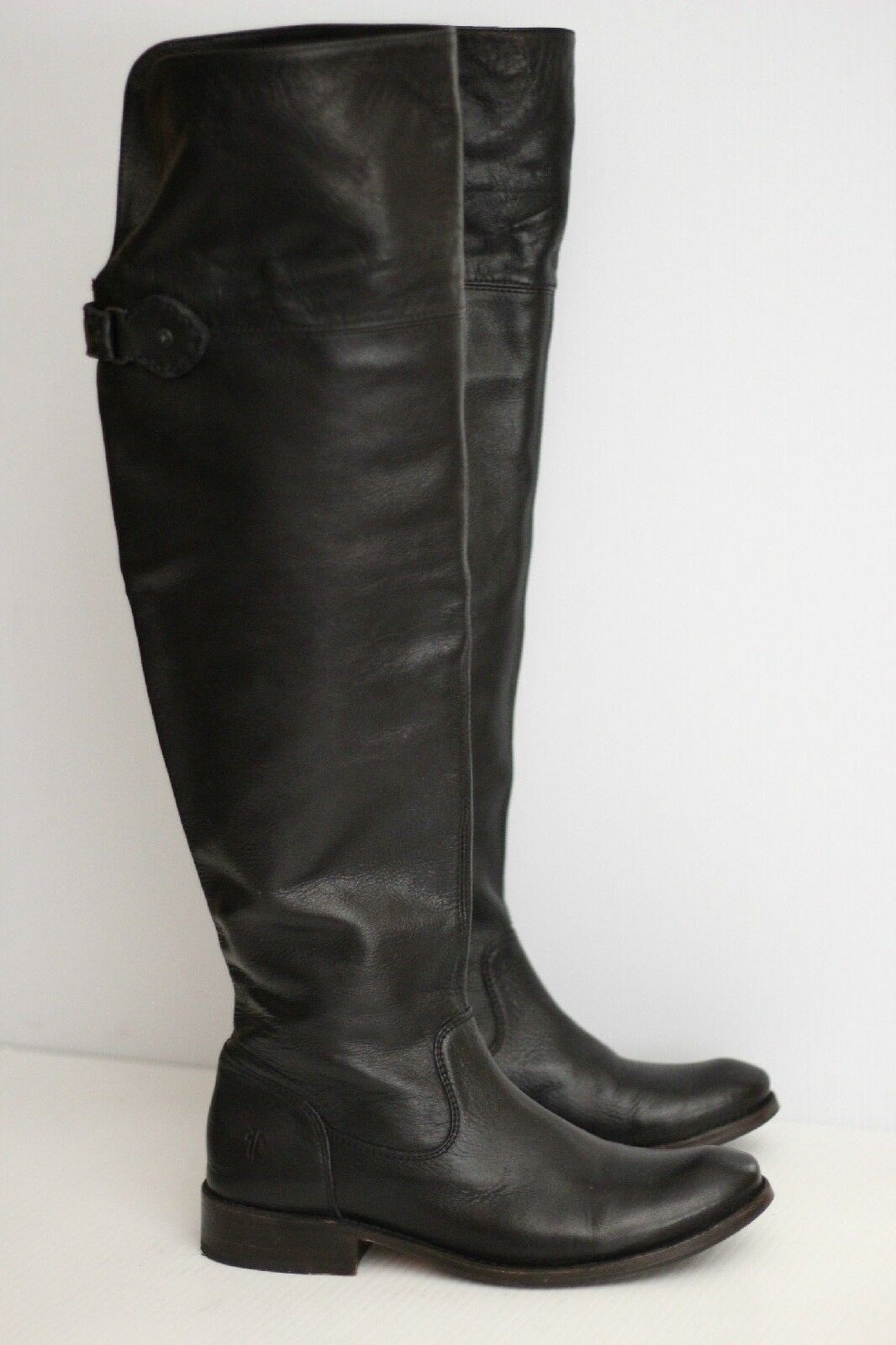 Frye Shirley OTK Over The Knee Tall Riding Boots - Black - Size 7 B - 3477739