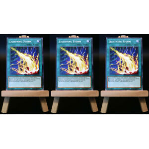 Yugioh-proxy-3x-Playset-lightning-storm-card-Orica-Custom-relampago-tormenta-IGAS