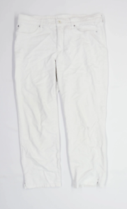 Femme-MAC-Jeans-en-coton-melange-blanc-pantalon-taille-14-L25