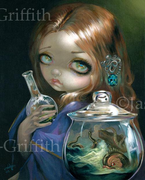 Jasmine Becket-Griffith art print alchemy ocean SIGNED Microcosm Sea Monsters