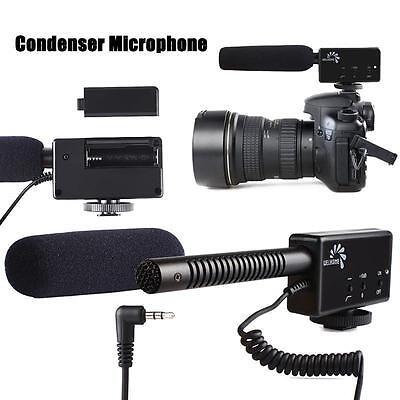 Shotgun Condenser Microphone For Canon 60D 650D Nikon D800 DSLR Camera