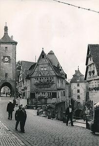 ALLEMAGNE c. 1940 - Le Plönlein Maisons Rothenburg - DIV8385 Uy1ubaV7-08061053-375024327