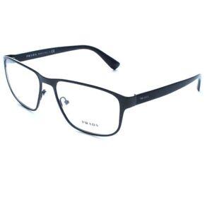 a962ab668792 New Prada Optical Frame VPR 56S TKM-101 Matte Black Gray 53-17-140 w ...