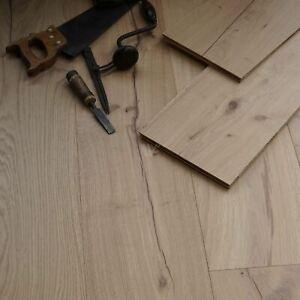"10"" Wide Oak Flooring / Engineered Wood / Light Brush & Invisible Wax Oil EC62"