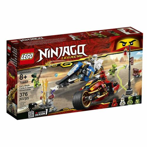 LEGO Set Ninjago Legacy Kai's Blade Cycle /& Zane's Snowmobile 70667