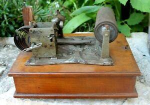 gramophone phonographe a cylindre  ( comptoir des machines parlantes Bruxelles )