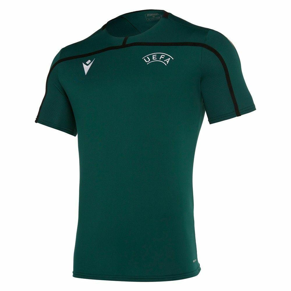 Macron Fútbol UEFA árbitro  19 Para hombres Mangas Cortas Camiseta Camiseta Cuello rojoondo SS NEC  Ven a elegir tu propio estilo deportivo.