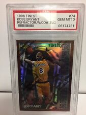 `~AWESOME OLD GRADE PSA 10 FINEST REFRACTOR WITH PEEL KOBE BRYANT 1996 RC TOUGH