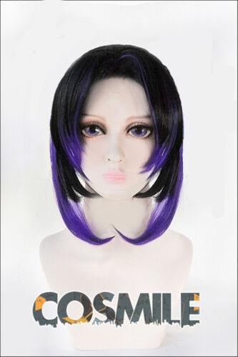 KU Kimetsu no Yaiba Kochou Shinobu Cosplay Hair Wig Cartoon Ver Demon Slayer