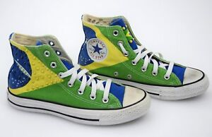 3022d08c08ba converse all star woman casual sneaker shoes brasil flag canvas code ...