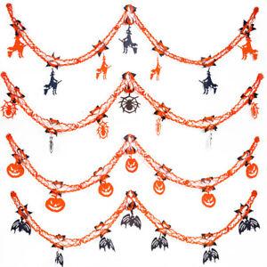 Halloween-Party-Hanging-Garland-Pennant-Banner-Decoration-2m-Paper-Kids-Scene