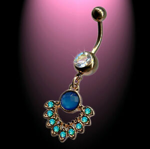 Perle synth Opal Belly Navel Piercing Bauchnabelpiercing Rosegold Dangle synth