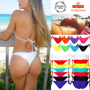 Image is loading Women-Scrunch-Brazilian-Swimwear-Suit-Thong-Bottom-Bandage- 345942ff48