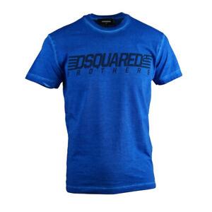 DSQUARED-2-FRATELLI-Cool-Fit-T-SHIRT-BLU