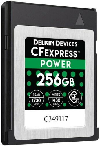 NEW Delkin Devices 256GB CFexpress POWER Memory Card,1430MB//s Write,1730MB// Read