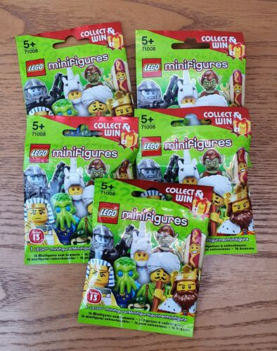 NEW LEGO SERIES 13 MINIFIGURES X5 BLIND BAGS BRAND NEW SEALED