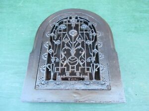Details about Vintage VICTORIAN Cast Iron Wall Floor Grille 13x17 Heat  Grate Register DOME