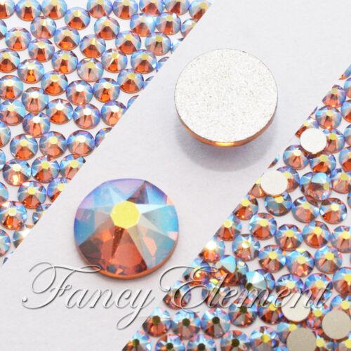 Aucun Correctif Swarovski Flatback Strass Nail Art Crystal Gems 203AB Aurora Borealis Topaz