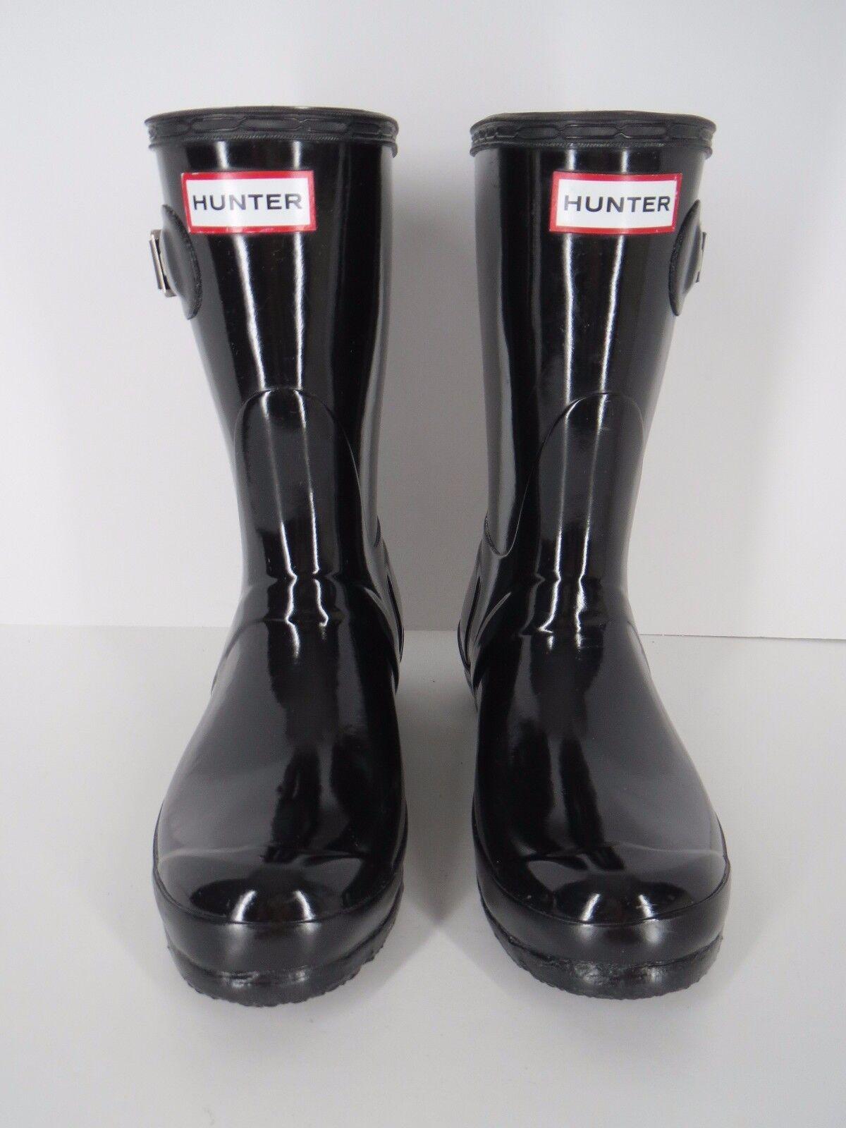 al prezzo più basso Hunter Rain stivali nero Rubber Short Dimensione Dimensione Dimensione US 6 EU 37 Original Gloss  migliori prezzi e stili più freschi