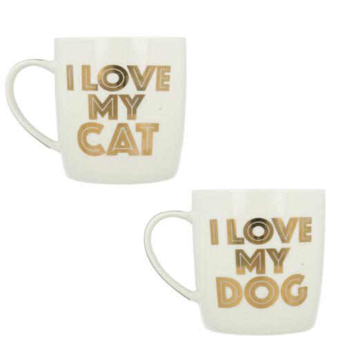 LESSER AND PAVEY I LOVE MY CAT LP33654 I LOVE MY DOG LP33653 FINE CHINA GIFT MUG