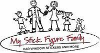 Ma famille coller la figure Voiture Fenêtre Autocollants grand-mère gm2