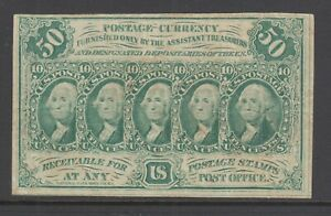 US-Sc-PC16-1862-50c-green-Postage-Currency-good-color-crease-scarce