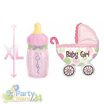 XL Folienballon Baby Flasche & Wagen Babyflasche Babywagen Babyparty Party Taufe