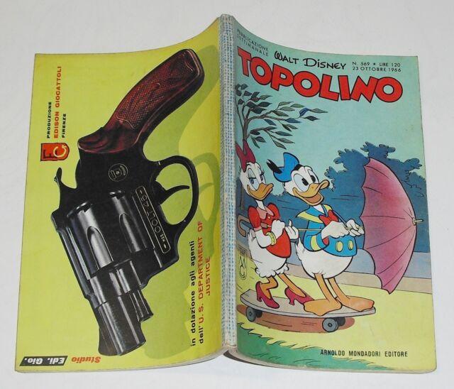 walt disney - TOPOLINO n. 569 - 23 Ottobre 1966 (CON BOLLINI!!)