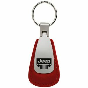INC Jeep Renegade Red Leather Key Ring Au-Tomotive Gold
