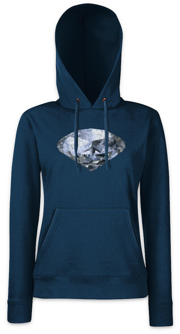 Diamond II Damen Hoodie Sweatshirt Sweatshirt Sweatshirt Crystal Reflector Diamonds Jewel Jewels | Niedriger Preis