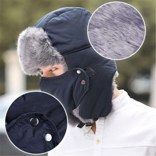 Unisex Winter Trooper Trapper Hat Aviator Trooper Earflap Winter Ski Warm Mask