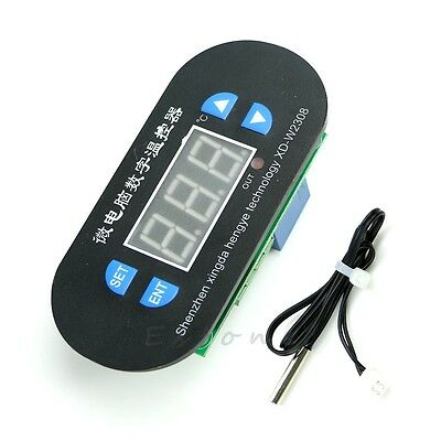 DC 12V Digital LED -50-120°c Heat Cool Thermostat Temperature Controller Sensor